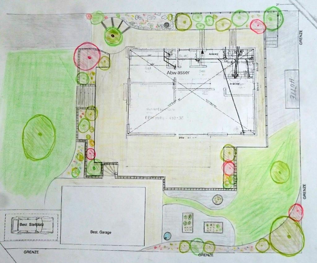 Garten-Skizze Stichlmair